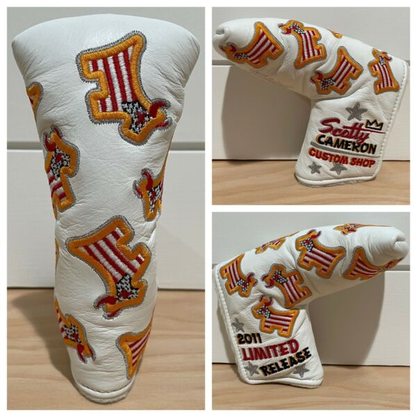 SCOTTY CAMERON HEADCOVER 2011 USA DANCING JUNKYARD DOG LEATHER PUTTER COVER NEW $299.99