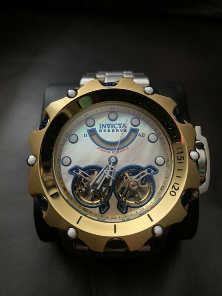 Invicta 33543 Reserve 51MM Men#x27;s Venom Gold MOP Automatic Stainless Steel Watch $350.00