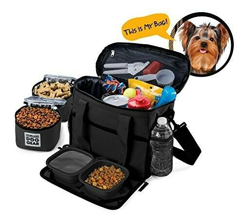 Overland Dog Gear Week Away Wheeled Bag Luggage Tote M L Dogs Black $48.00
