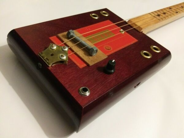 *GRITTY FISH* 3 String Acoustic Electric Cigar Box Guitar $155.00