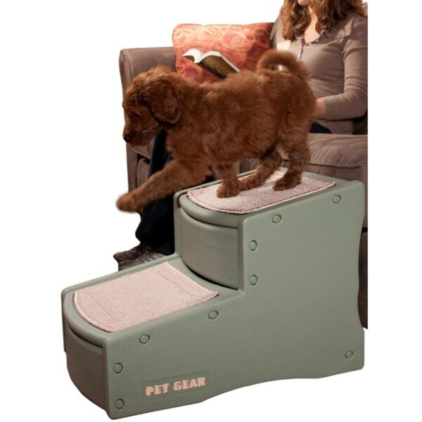 PET GEAR Easy Step II Pet Stairs For Cats Dogs Up To 150 Pounds