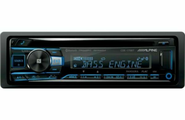 Alpine CDE 175BT Single DIN Bluetooth In Dash with Bluetooth and Front USB Media