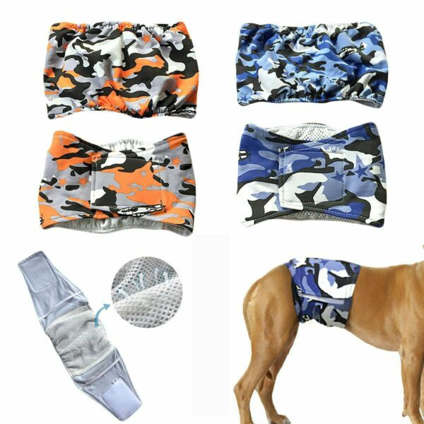 Pet Male Dog Belly Band Wraps Washable Diapers for Small and Medium Dogs S XL $8.79
