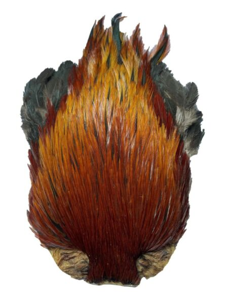 Quality Grade A Natural Furnace Game Indian Cock Cape For Fly Tying GBP 8.75