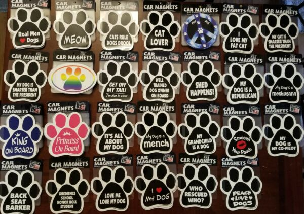 Dog Paw Collection. Magnetic Car Decal. *NEW* MADE IN USA $4.95