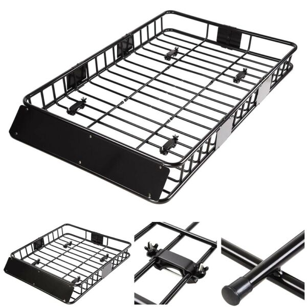 50quot;X 38quot; Black Roof Basket Carrier Rack Car Top Luggage Cargo Storage Traveling $118.89