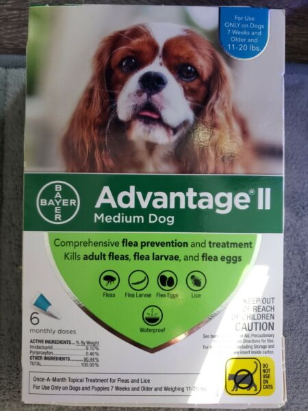 Advantage II Medium Dog Flea Treatment for Dogs 11 20 lbs 6 Monthly Doses $37.00