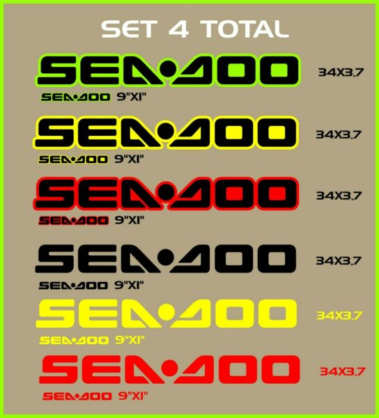 Set of 4 Sea Doo BRP Replacement Decals Bombadier Personal Watercraf Boat $35.99