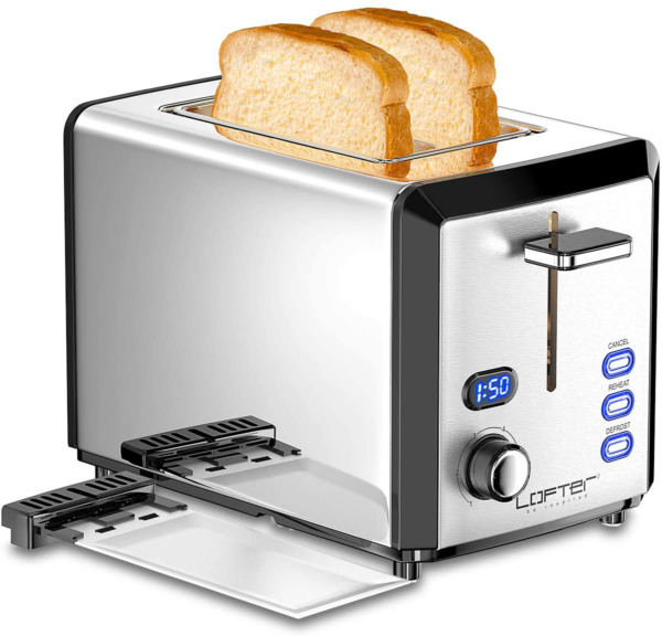 2 Slice Toaster Stainless Steel Toaster Extra Wide Slots 6 Shade Settings Pr