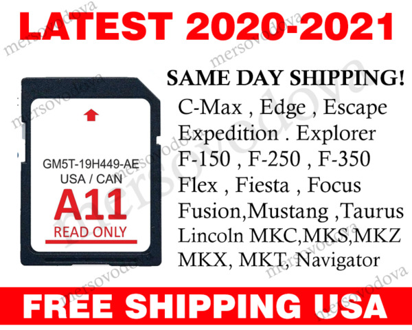 NAVIGATION SD CARD SYNC COMPATIBLE WITH FORD LINCOLN A11 ROADS COVER USA CANADA $27.88