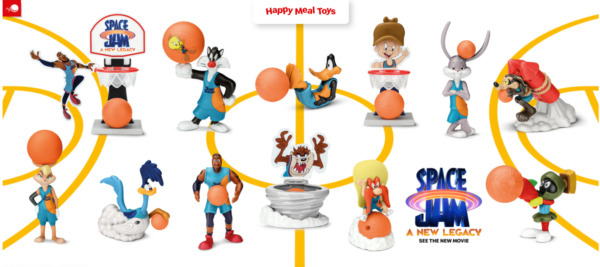 2021 McDONALD#x27;S Warner Bros Space Jam New Legacy Lebron HAPPY MEAL TOYS Or Set $3.99