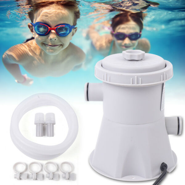 Swimming Pool Electric Filter Pump Water Cleaning Tool Above Ground w 2strainer $44.00