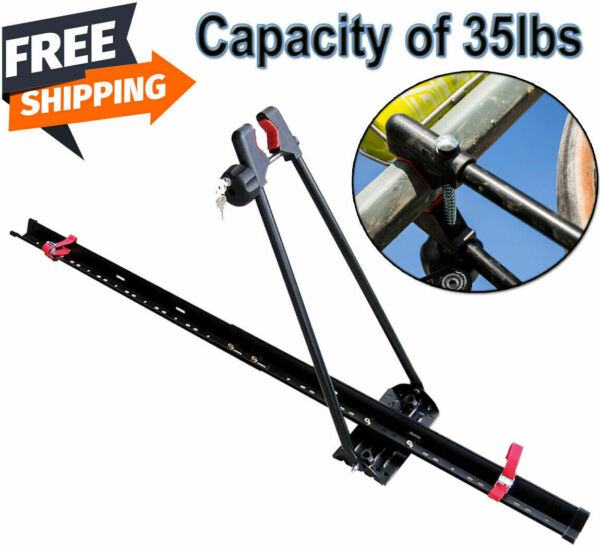 Bike Rack for Car Roof Universal Upright Single Bicycle Carrier Trailer Lockable $49.99