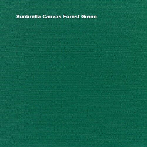 Sunbrella Canvas Forest Green 5446 0000 outdoor indoor fabric by the yard 54quot; w