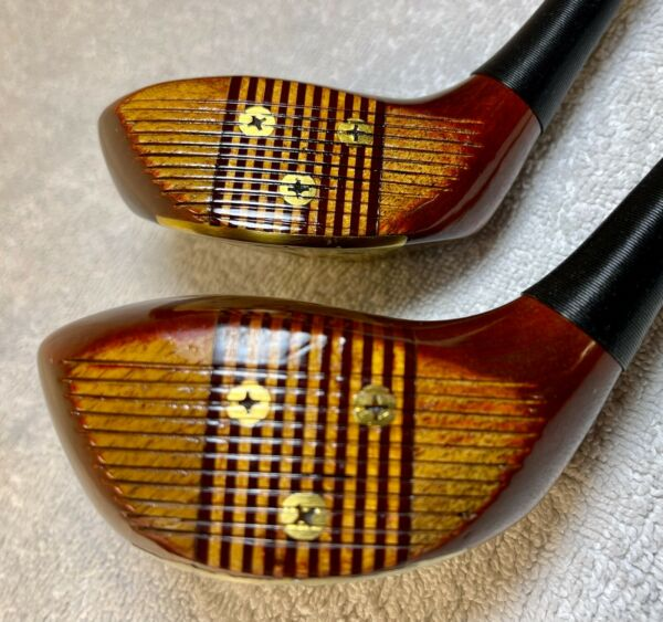 Golfcraft Vintage quot;Mike Bradyquot; Persimmon #1wd and #4 wd Stiff Refinished