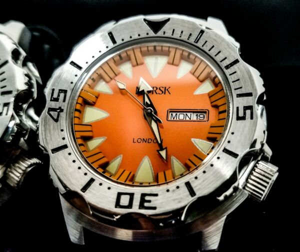 Sea Monster Watch Norsk medal winners Norway Diver Citizen Movement orange