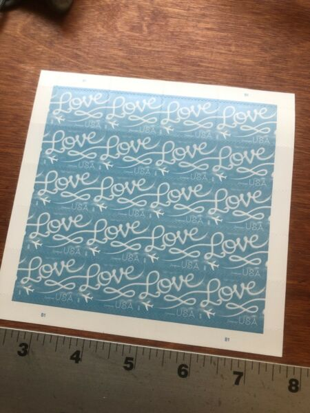100 stamps USPS Love Skywriting Forever Stamps. Sheets book of 20