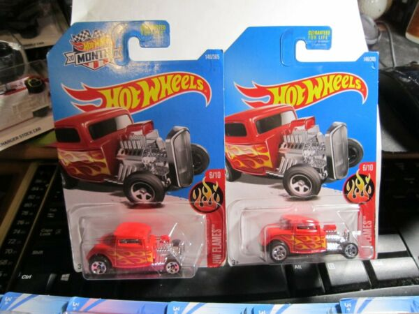 #x27;32 Ford #146 * RED * 2017 Hot Wheels with Car of Month amp; without Lot of 2