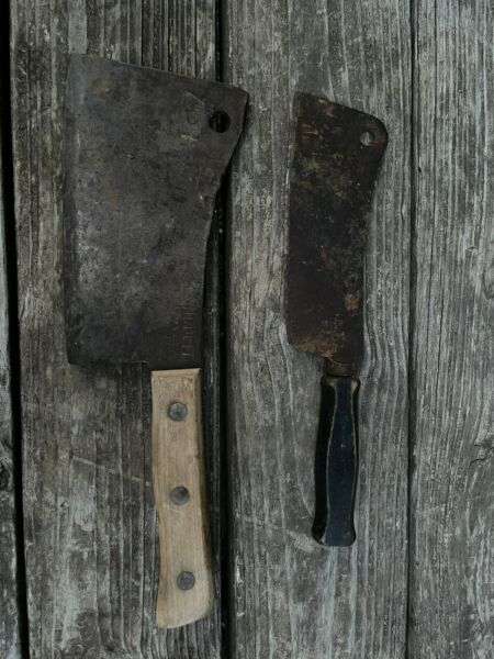 Antique Meat Cleavers
