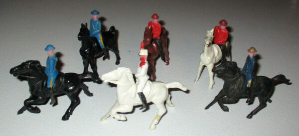 Bergen Toy and Novelty Beton 1940s 1950s 50MM Police and Cadets with Horses $18.00