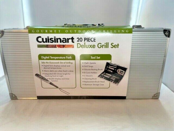 Cuisinart Deluxe Grill Set 20 Piece CGS 5020 Stainless Steel NEW