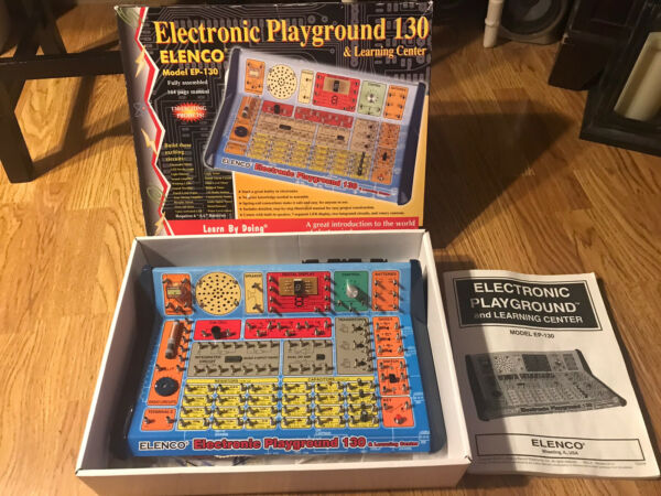 Elenco Electronic Playground Model EP 130 Learning Center W Manual Wires amp; Light