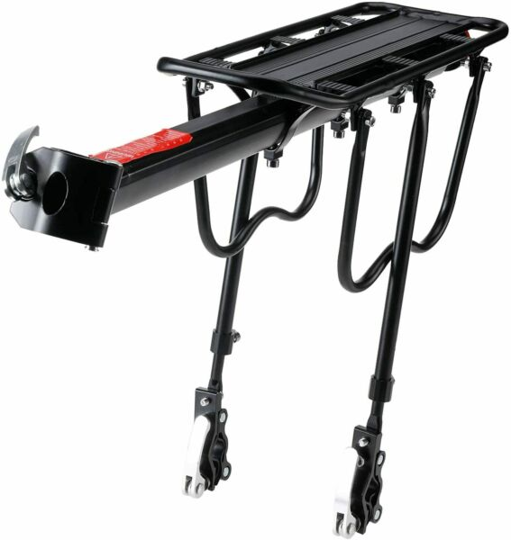 110 Lbs Bike Rear Rack Bicycle Luggage Cargo Rack Carrier Quick Release Rack $24.99