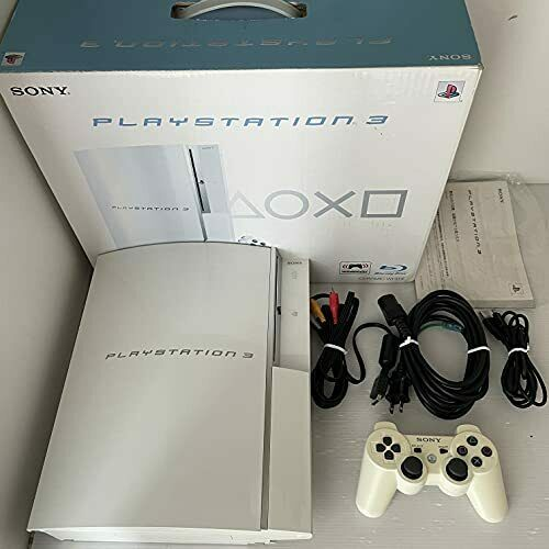 PLAYSTATION 3 80GB Ceramic White PS3 SONY game Console box set $151.00