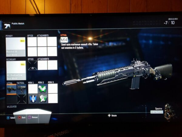 Black Ops 3 Fully Modded Insane Account PS4 $25.00