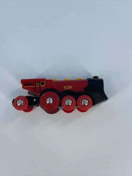 Brio Battery Operated #529 Mighty Red Action Engine Locomotive Train Thomas