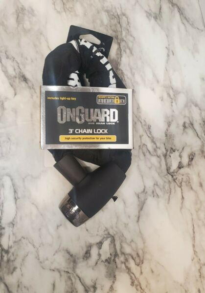 OnGuard Level Four 3' Chain Bike Lock With 2 Keys High Security $22.00