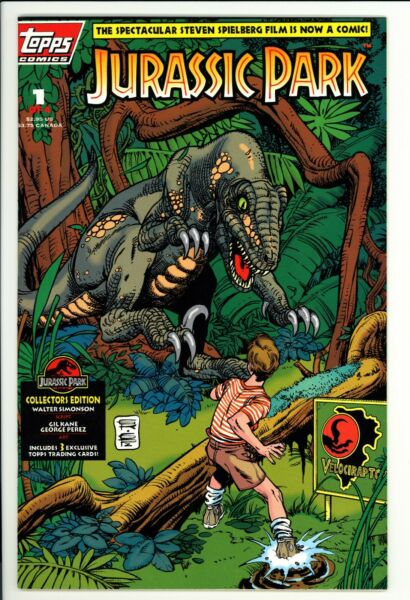Jurassic Park #1 VF Topps 1993 Adaptation Of The Film Not Polybagged $4.99
