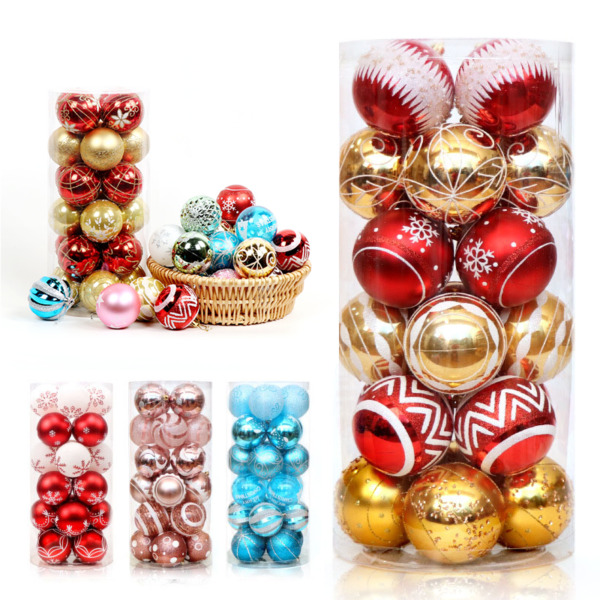 1 2 Set Christmas Ball Ornaments Xmas Tree Ball Bauble Hanging Home Party Decor $6.99