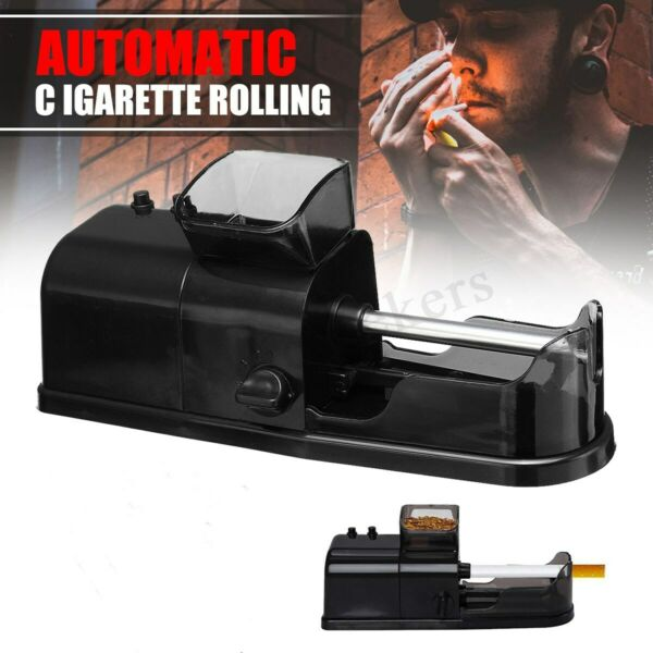 Electric Automatic Cigarette Tobacco Rolling Machine Maker Roller Injector $18.99