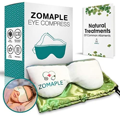 Heated Eye Mask for Dry Eyes Warm Compress for Eyes Moisturizing Heat for Pink $18.04