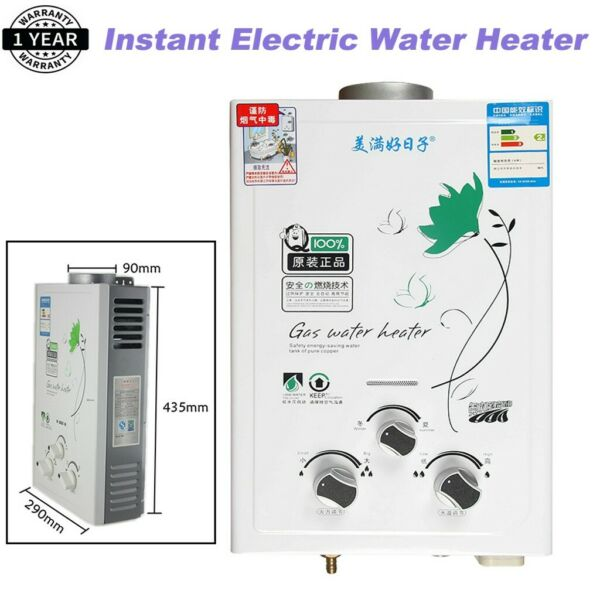 6L 12KW Instant Electric Water Heater Tankless Liquid Propane Gas Home Shower $79.90