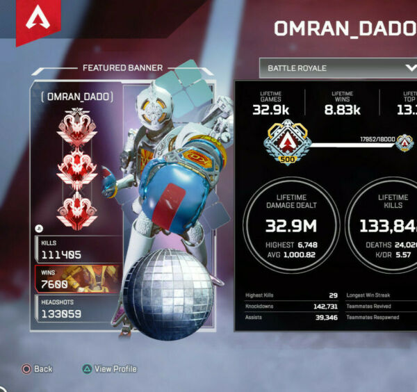 Apex Legends Boosting in 24H 20 Kill 4k Damage Badge any Main PS4 PC XBOX EUR 35.00