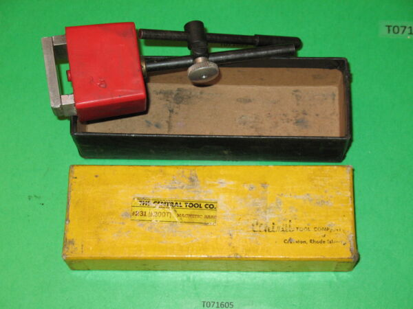 used CENTRAL TOOL CO 231 200T magnetic base for zero indicator dial micrometer $26.99