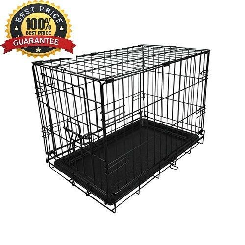 18 Inch Extra Small Dog Crate Folding Kennel Metal Pet Cage With Tray Black $27.00