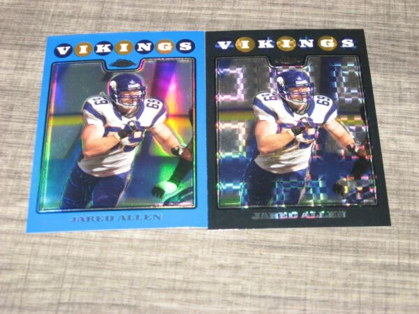 2008 TOPPS CHROME JARED ALLEN 2 REFRACTOR CARD LOT BLUE #109 AND X FRACTOR #109 $3.99