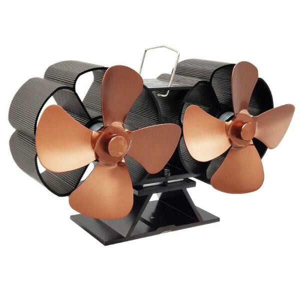 Efficient Wood Stove Fan 8 Blades Heat Powered Wood Stove Fan with Thermometer $54.00