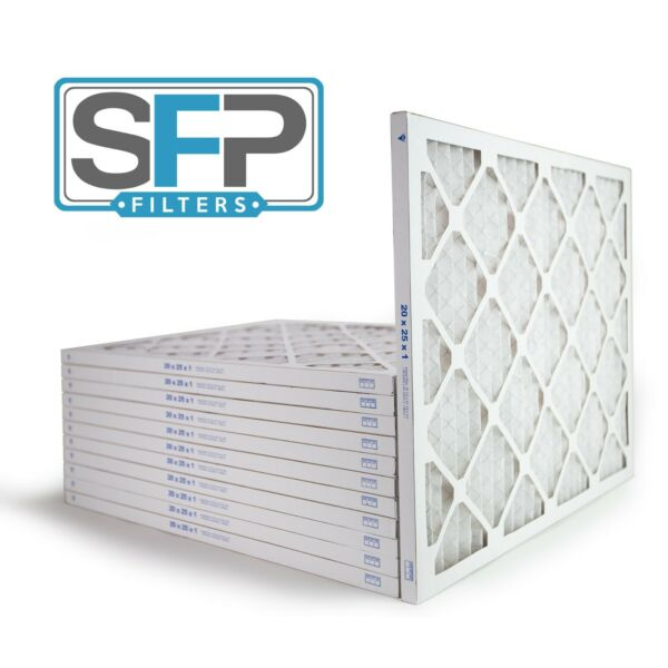 20x25x1 Merv 13 Pleated AC Furnace Filters. Case of 12 Captures airborne virus $58.90