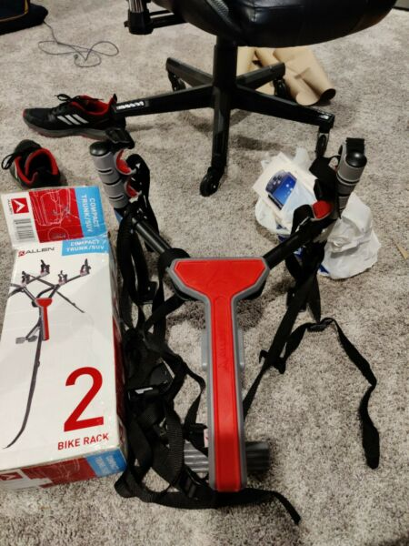 SEE NOTES Allen Sports MT 2 Ultra Compact Folding 2 Bike Trunk Mount Rack Red $18.00