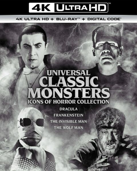 Universal Classic Monsters Icons of Horror Collection 4K UHD Blu ray NEW $54.99