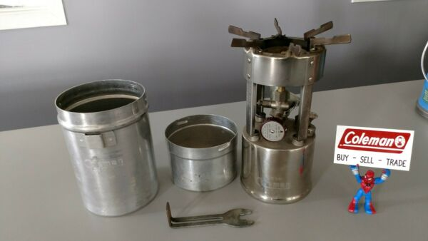 Coleman Stove 530 Works A 1947 Great Shape With Cook Kit