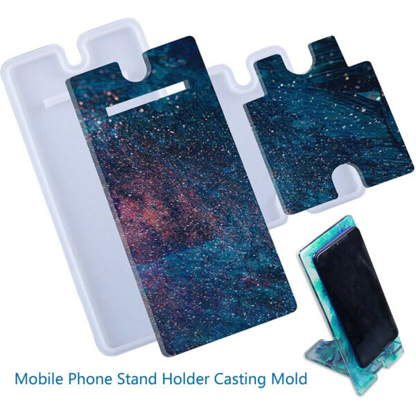 Silicone Mold Mobile Phone DIY Stand Mould Epoxy Holder Casting Resin Tool Craft $7.99