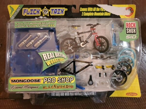 New In Package Flick Trix Mongoose Mountain Bikes Pro Shop Set Spin Master Toys $75.00