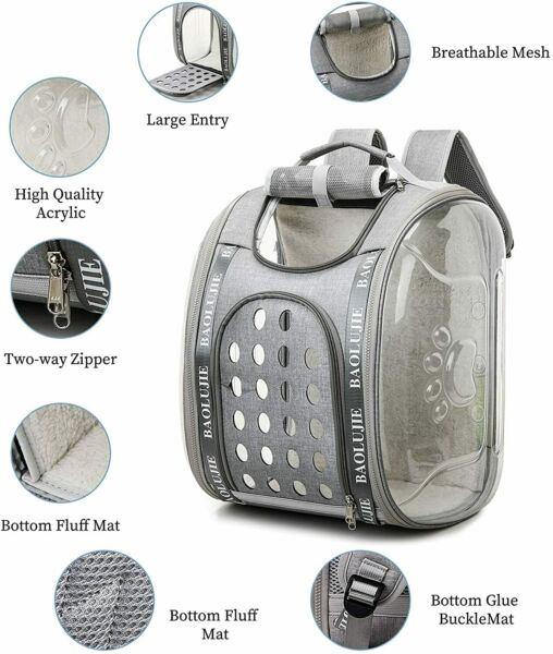 Cat Dog Carrier Backpacks Large Capacity Space Capsule Collapsible $12.99