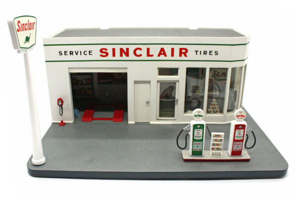 1960s Sinclair Gas Station 1:24 LOOSE Display by Danbury Mint USED