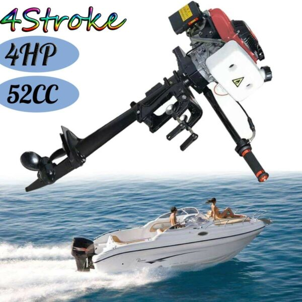 ⭐⭐4 Stroke 4HP⭐⭐ New Heavy Duty Outboard Motor Boat Engine w Air Cooling System $269.99